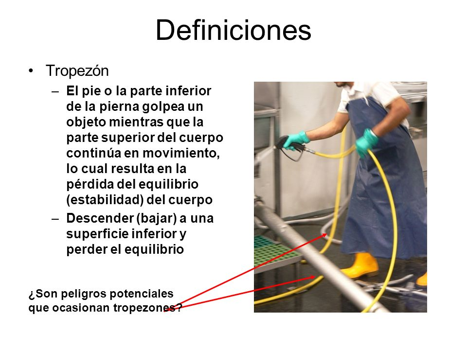 Definiciones Tropezón
