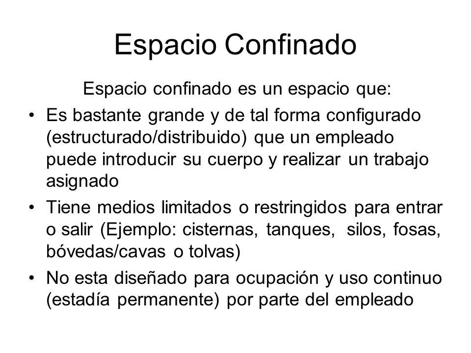 Espacio confinado es un espacio que: