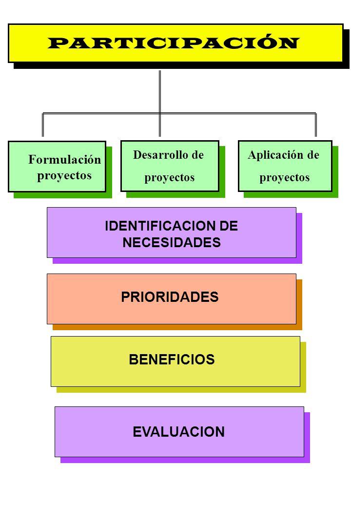 Formulación proyectos IDENTIFICACION DE NECESIDADES