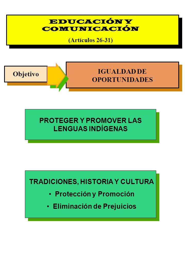 IGUALDAD DE OPORTUNIDADES Objetivo