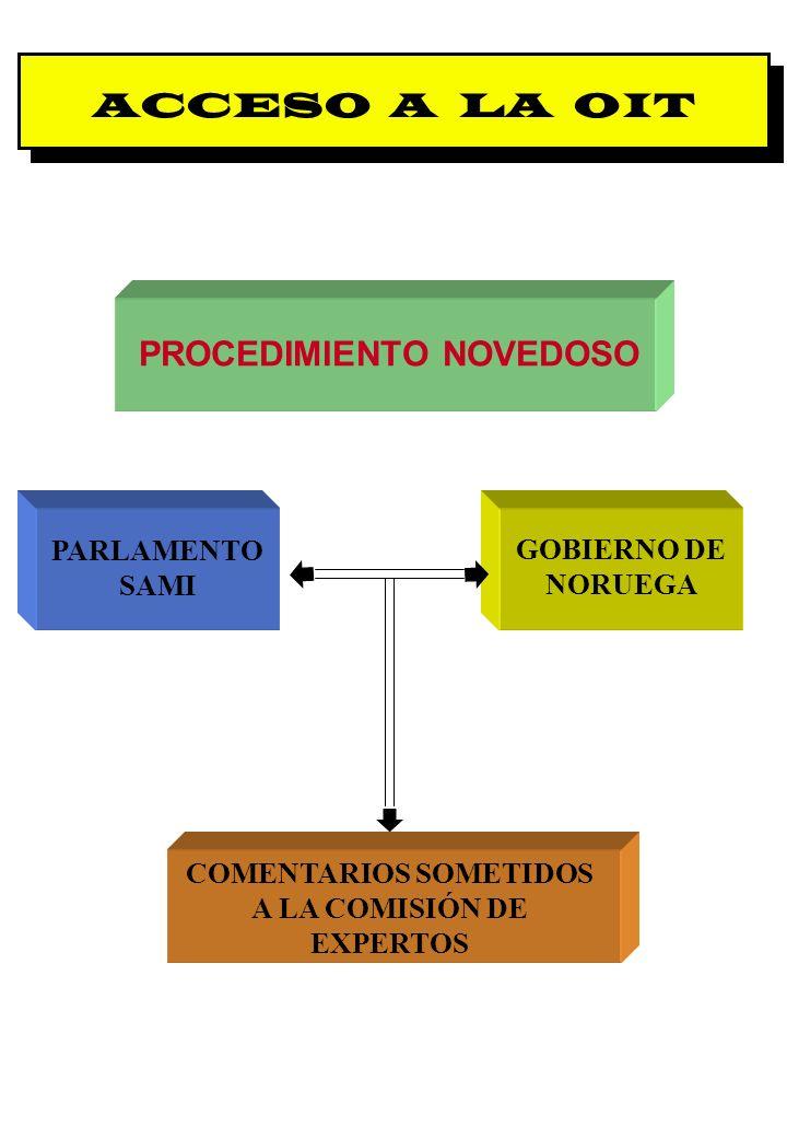 PROCEDIMIENTO NOVEDOSO COMENTARIOS SOMETIDOS A LA COMISIÓN DE EXPERTOS