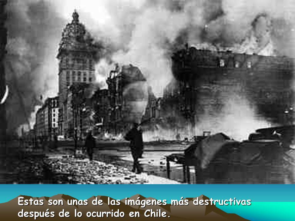 Estas son unas de las imágenes más destructivas después de lo ocurrido en Chile.