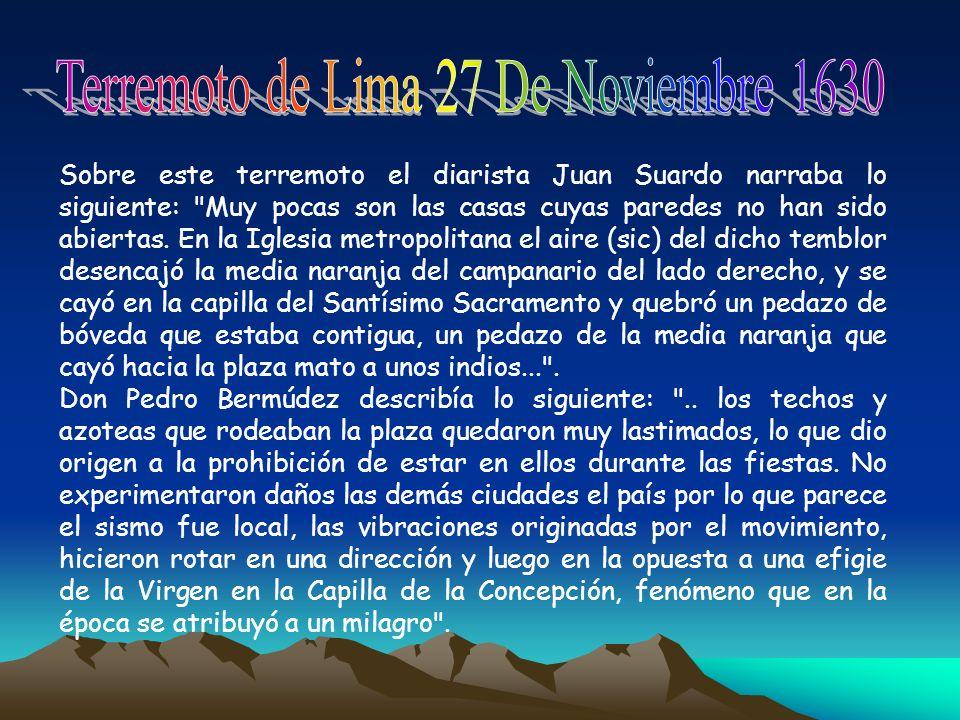 Terremoto de Lima 27 De Noviembre 1630