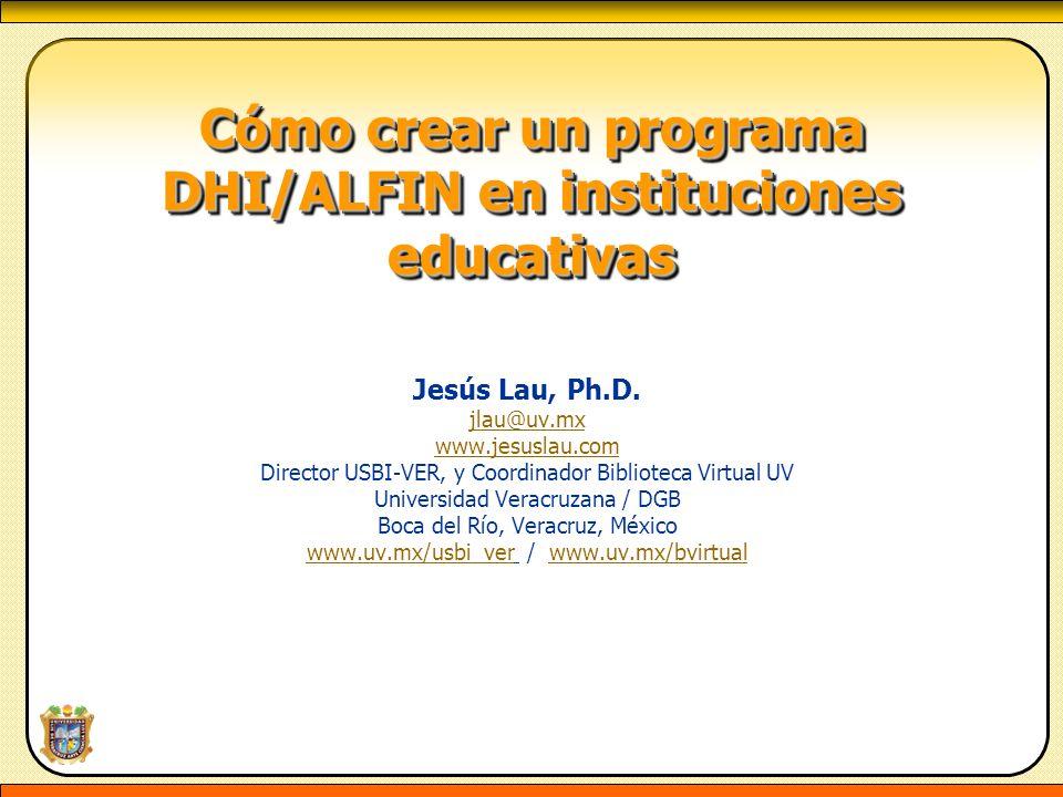 Cómo crear un programa DHI/ALFIN en instituciones educativas