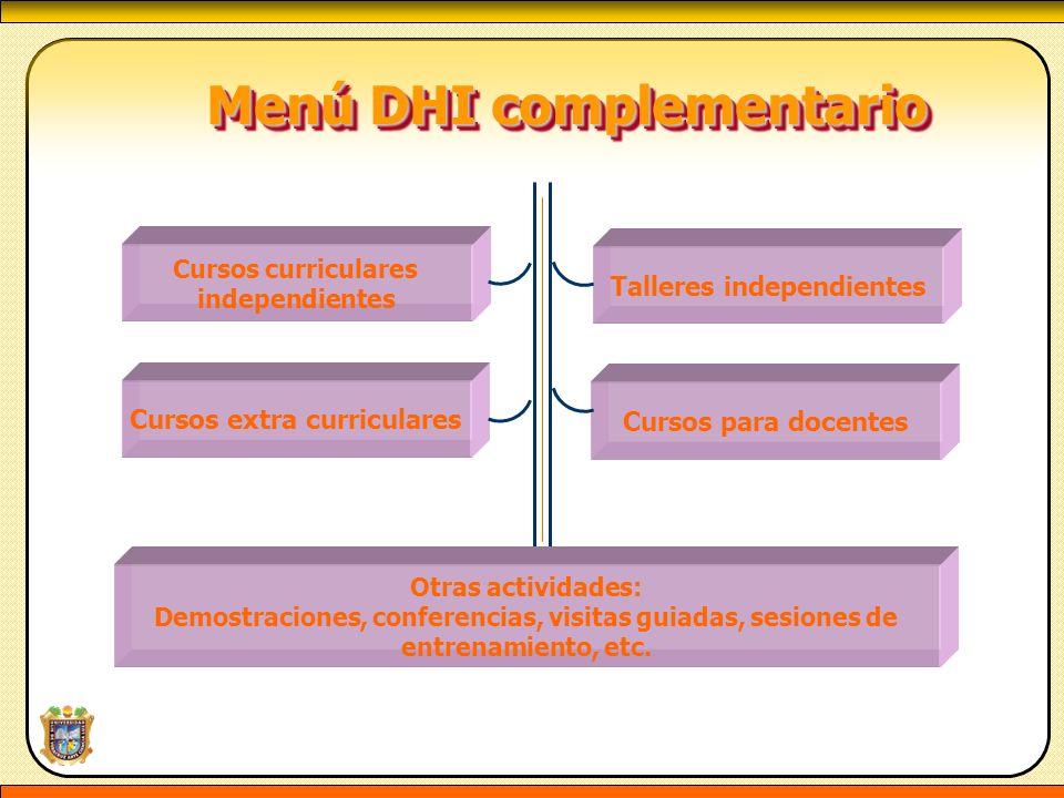 Menú DHI complementario