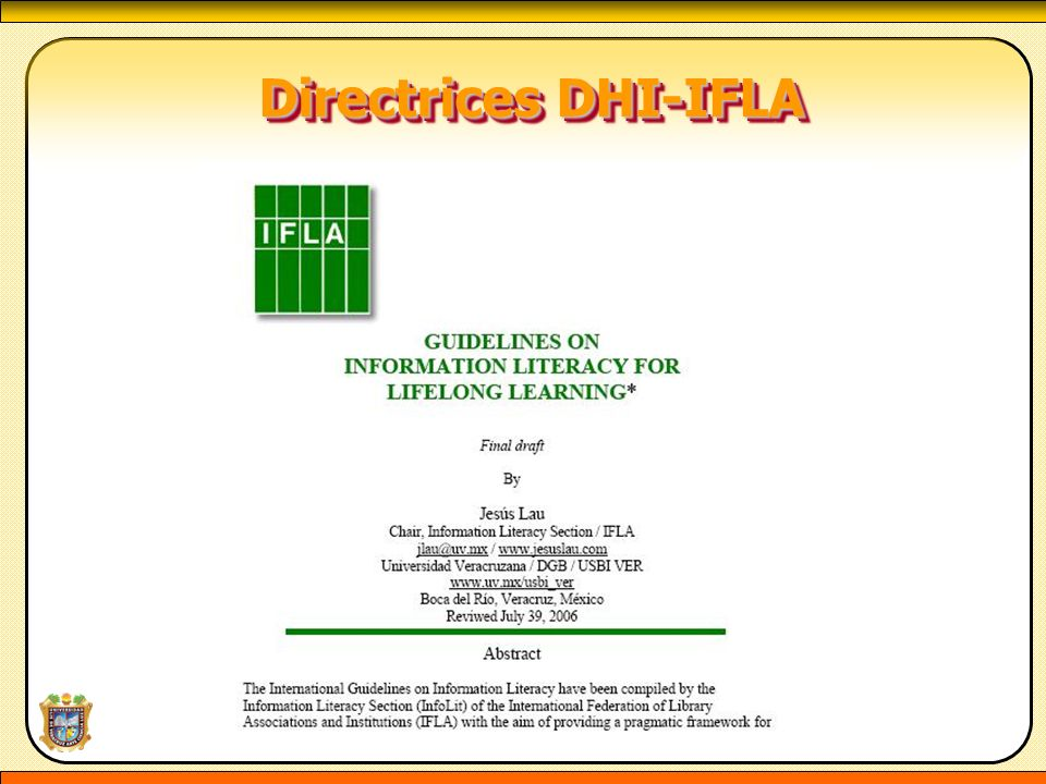 Directrices DHI-IFLA