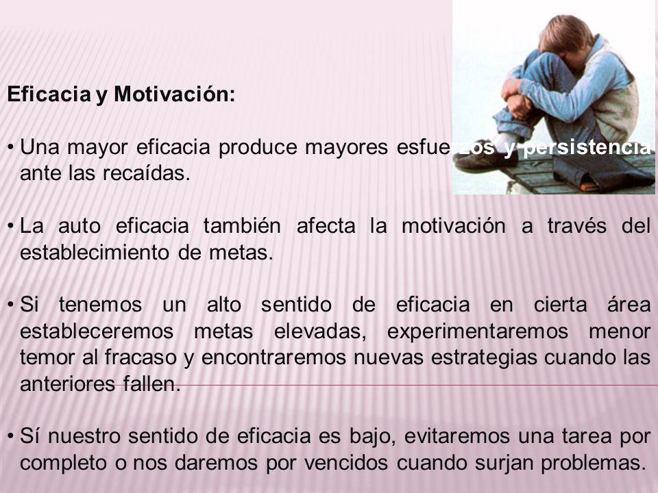 Eficacia y Motivación: