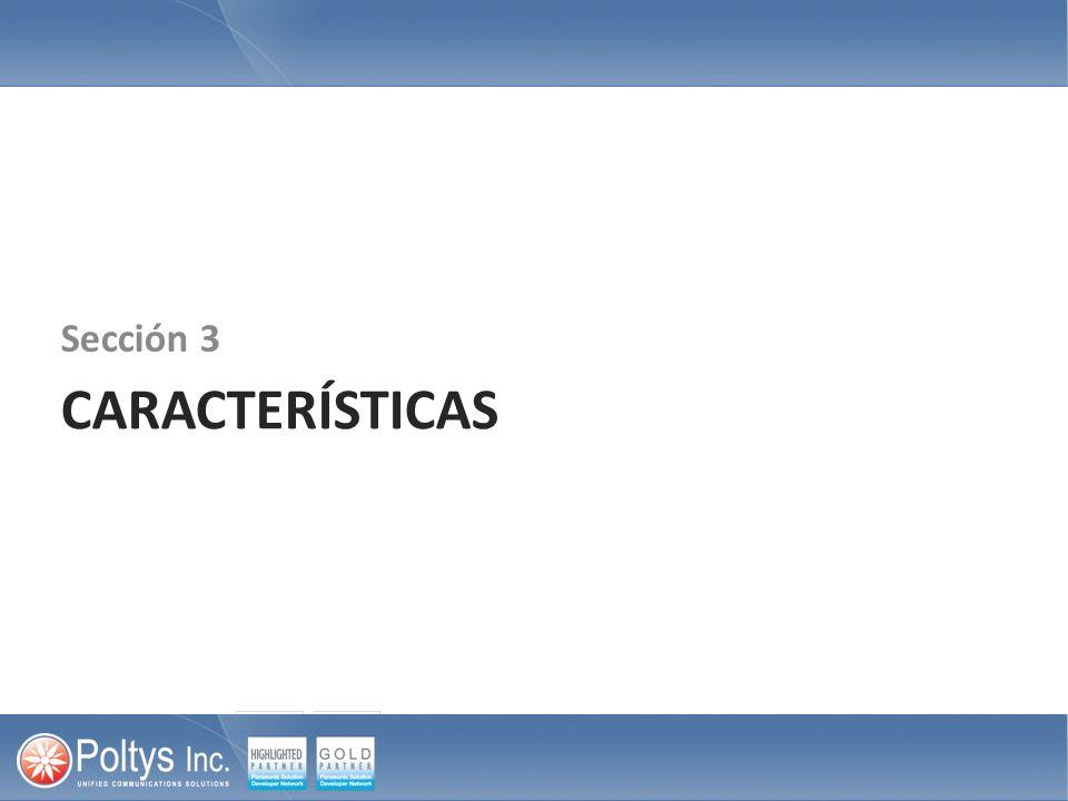 Sección 3 CARACTERÍSTICAS