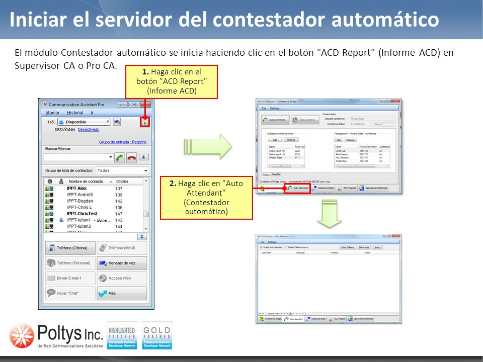 Iniciar el servidor del contestador automático