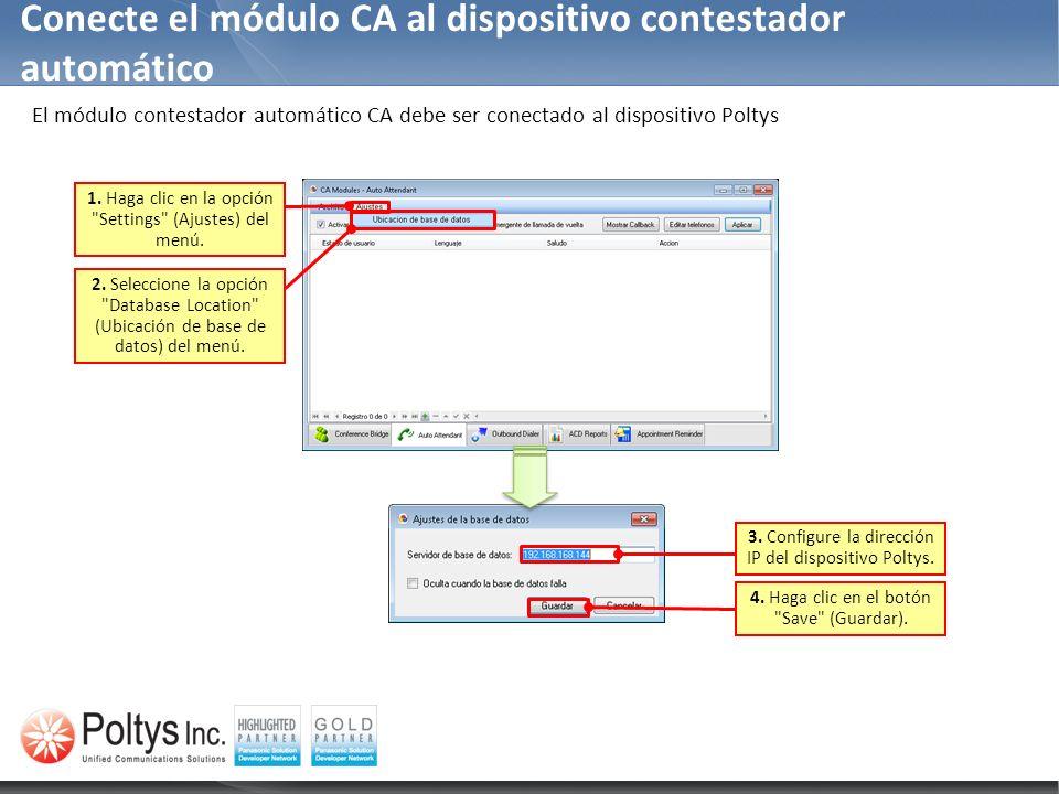 Conecte el módulo CA al dispositivo contestador automático