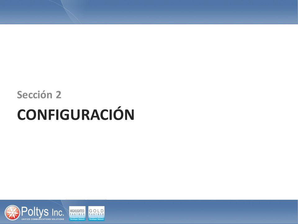 Sección 2 CONFIGURACIÓN