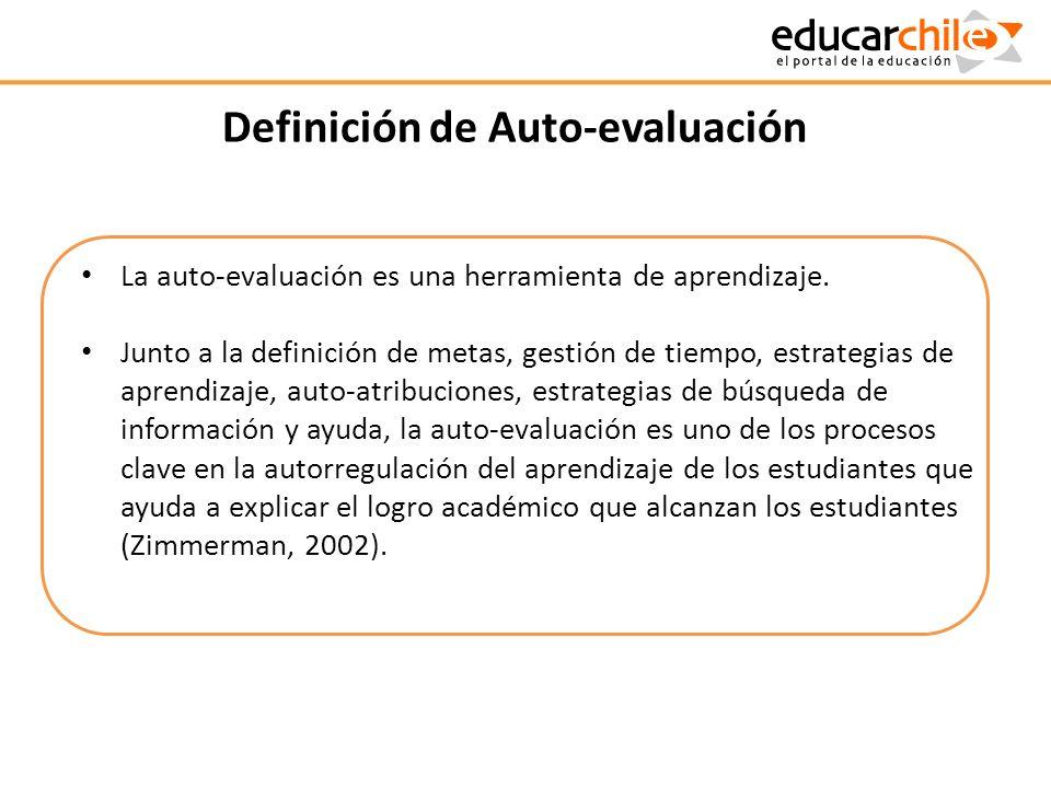 Definición de Auto-evaluación
