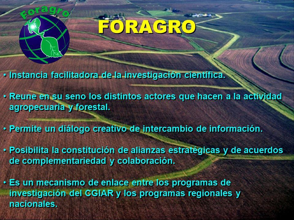 FORAGRO Instancia facilitadora de la investigación científica.