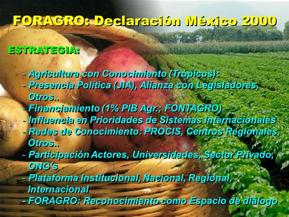 FORAGRO: Declaración México 2000