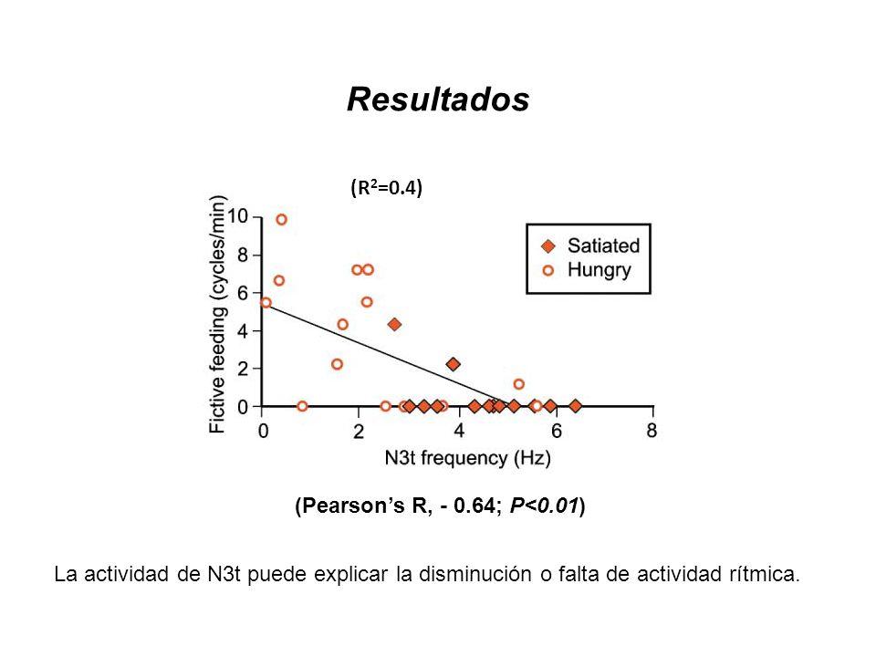 Resultados (R2=0.4) (Pearson's R, - 0.64; P<0.01)