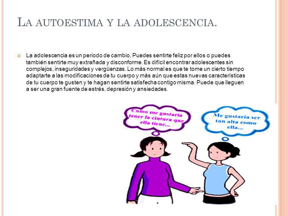 La autoestima y la adolescencia.