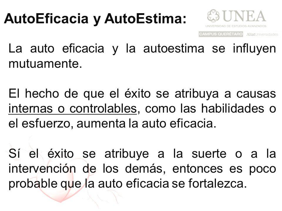 AutoEficacia y AutoEstima: