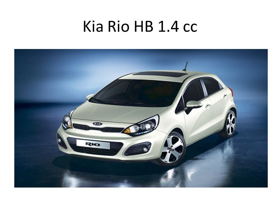 Kia Rio HB 1.4 cc