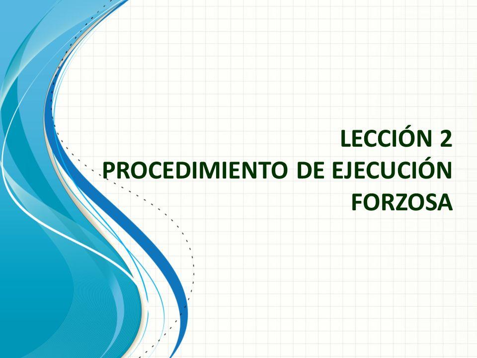 LECCIÓN 2 PROCEDIMIENTO DE EJECUCIÓN FORZOSA