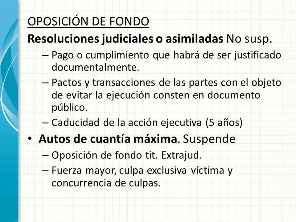 Resoluciones judiciales o asimiladas No susp.