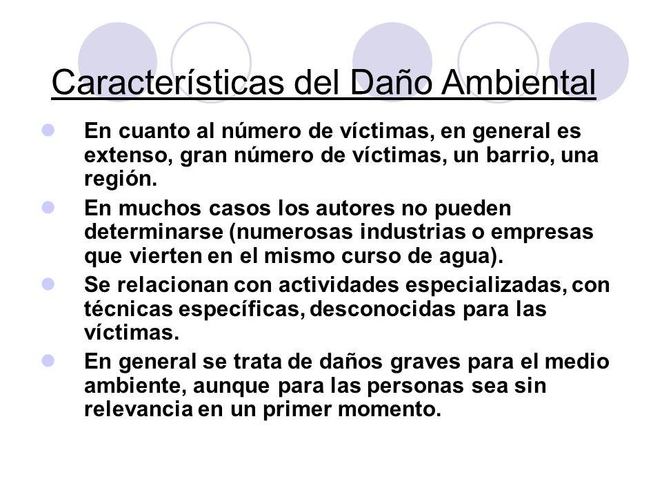 Características del Daño Ambiental