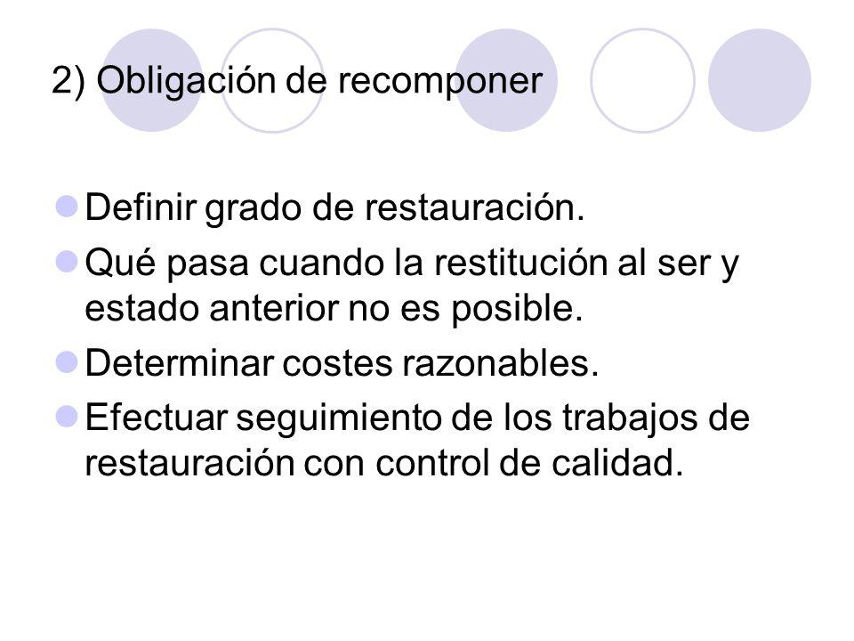 2) Obligación de recomponer
