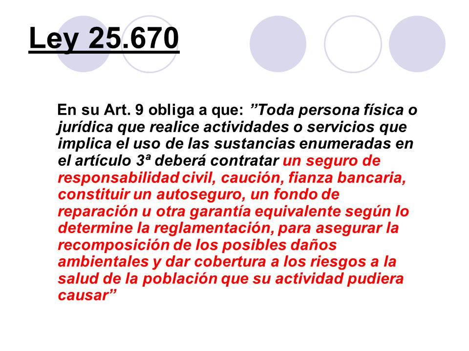 Ley 25.670