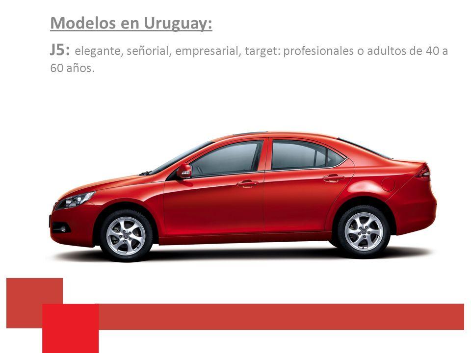 Modelos en Uruguay: J5: elegante, señorial, empresarial, target: profesionales o adultos de 40 a 60 años.