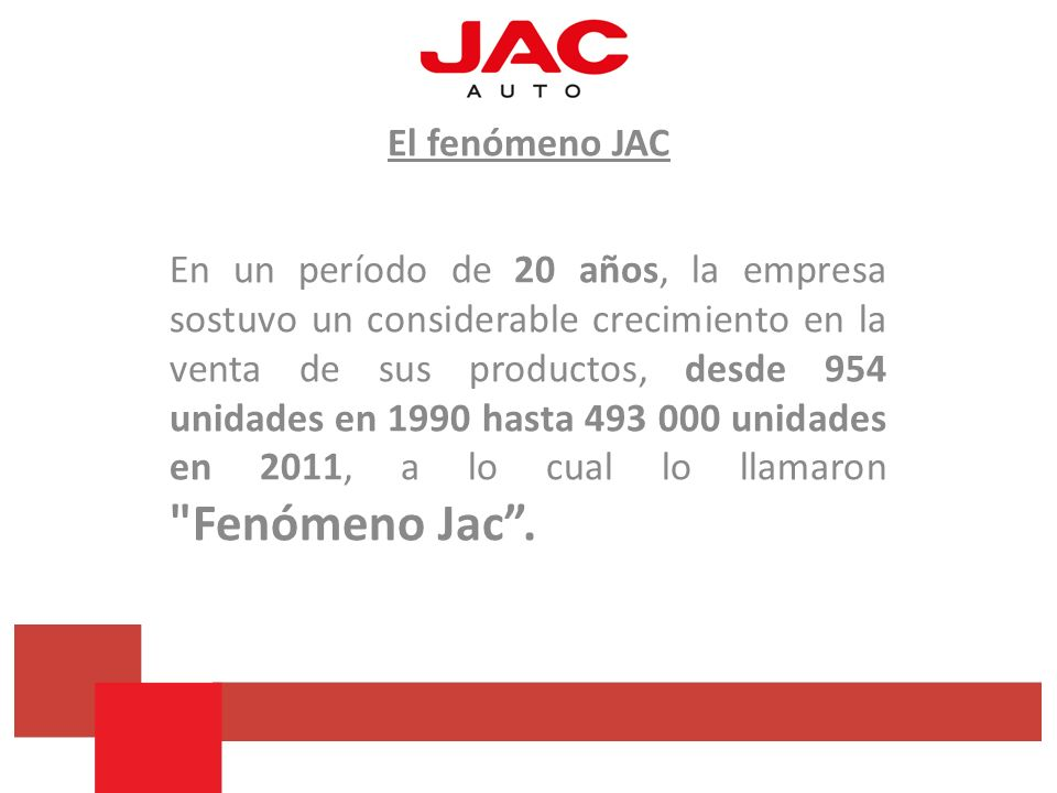 El fenómeno JAC