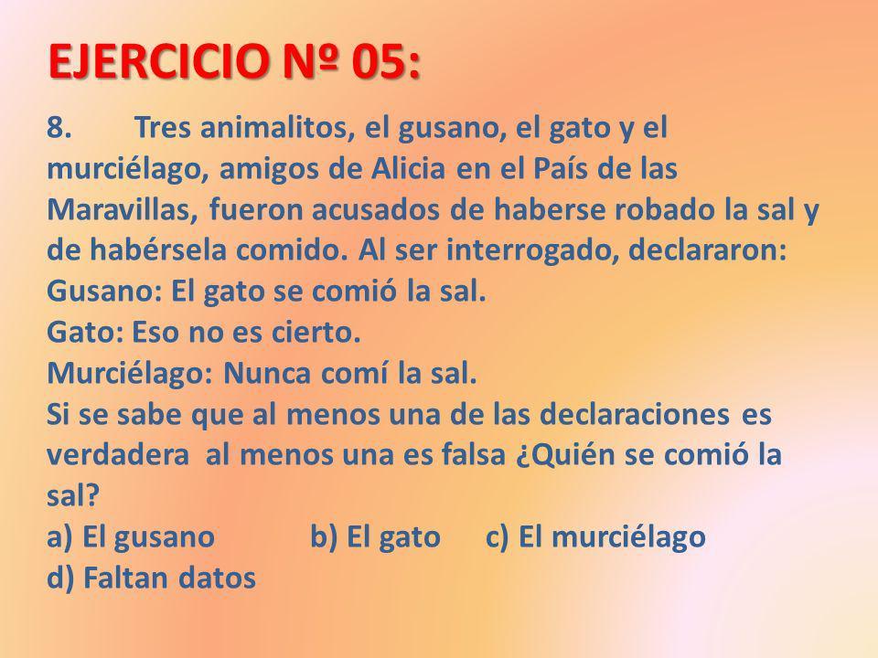 EJERCICIO Nº 05: