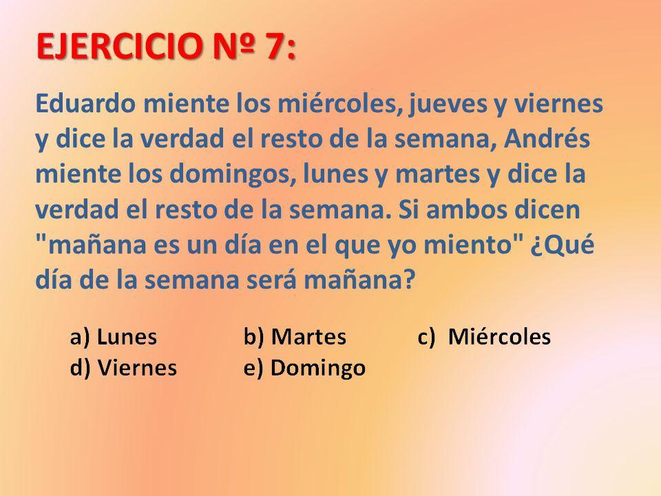 EJERCICIO Nº 7: