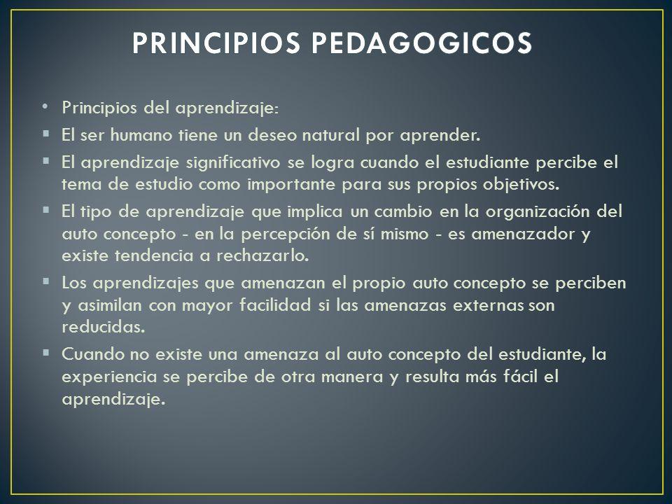 PRINCIPIOS PEDAGOGICOS