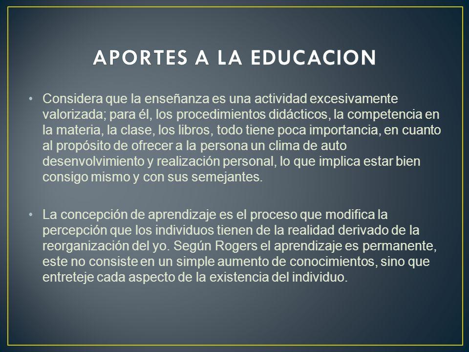 APORTES A LA EDUCACION