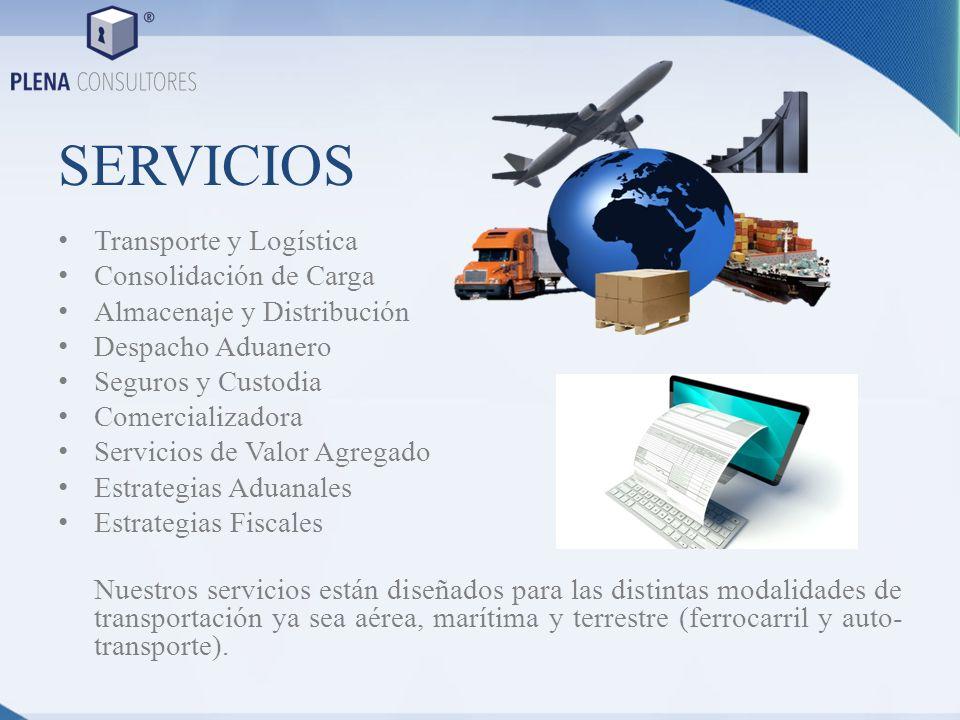 SERVICIOS Transporte y Logística Consolidación de Carga