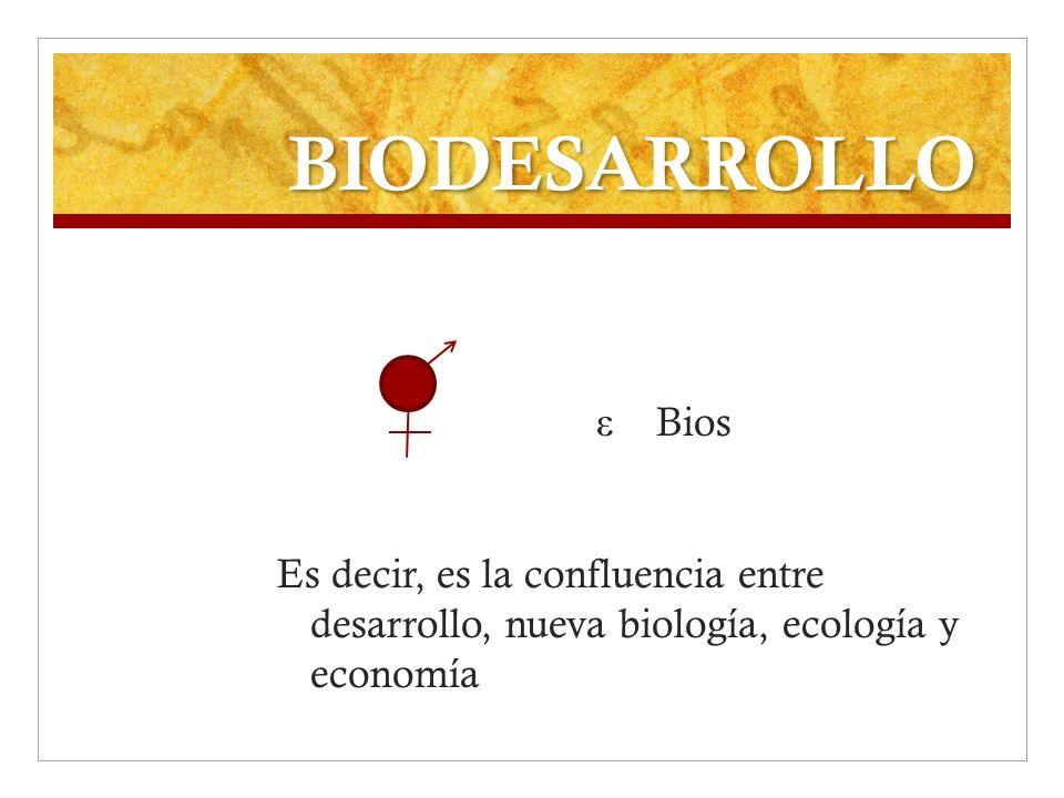 BIODESARROLLO ε Bios.