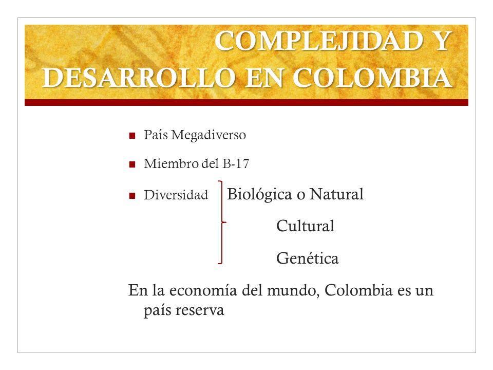 COMPLEJIDAD Y DESARROLLO EN COLOMBIA