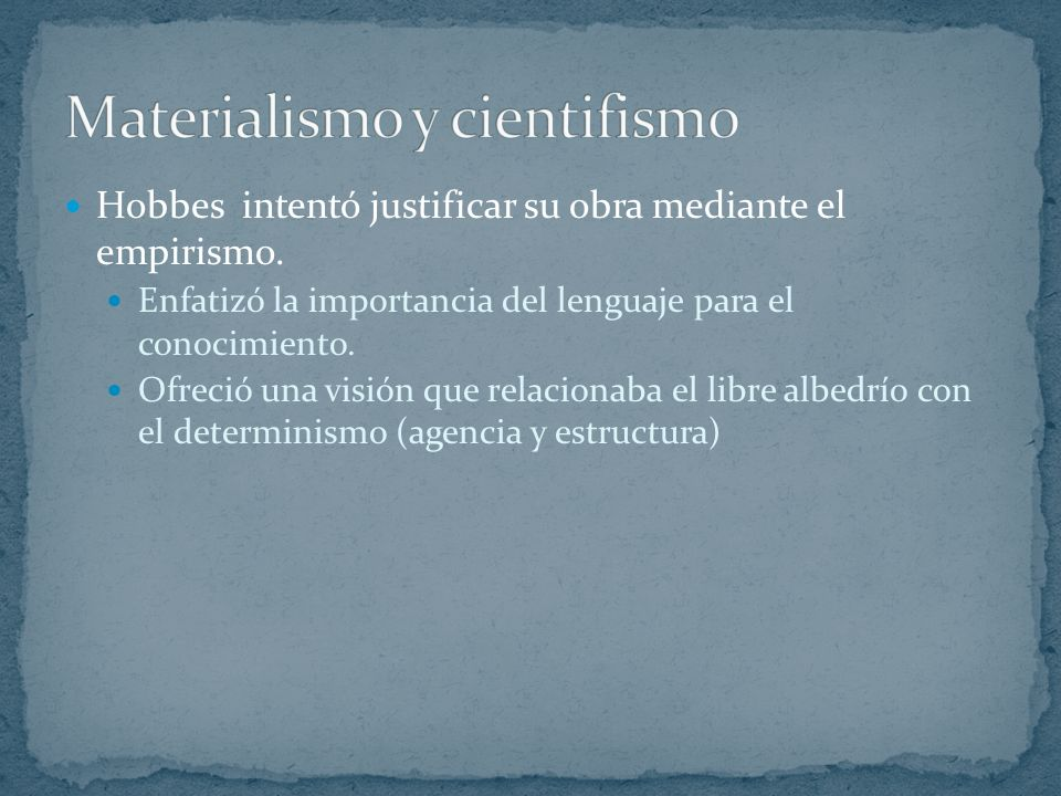 Materialismo y cientifismo