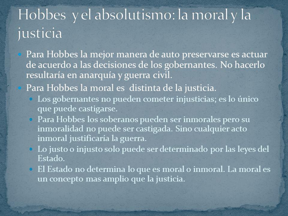 Hobbes y el absolutismo: la moral y la justicia