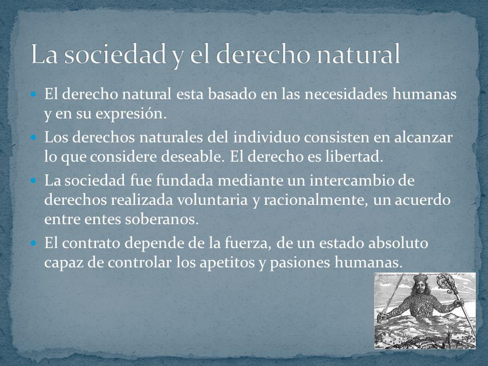 La sociedad y el derecho natural
