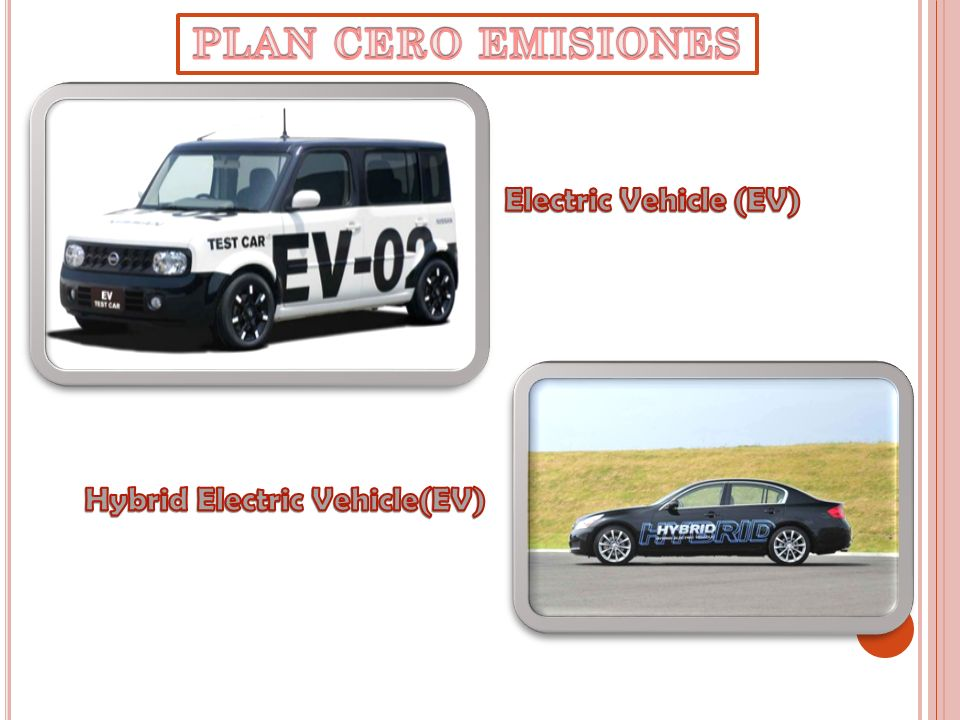 PLAN CERO EMISIONES Electric Vehicle (EV) Hybrid Electric Vehicle(EV)