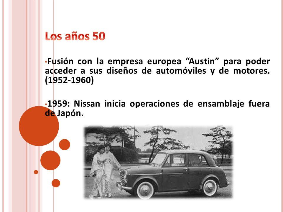 Los años 50Fusión con la empresa europea Austin para poder acceder a sus diseños de automóviles y de motores. (1952-1960)