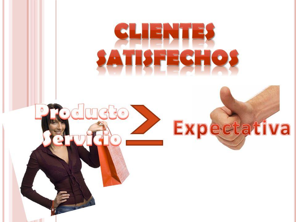 Clientes satisfechos Producto Servicio Expectativa