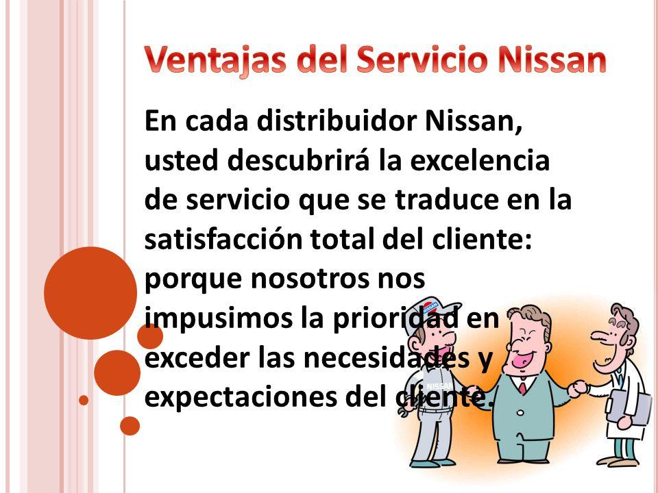 Ventajas del Servicio Nissan