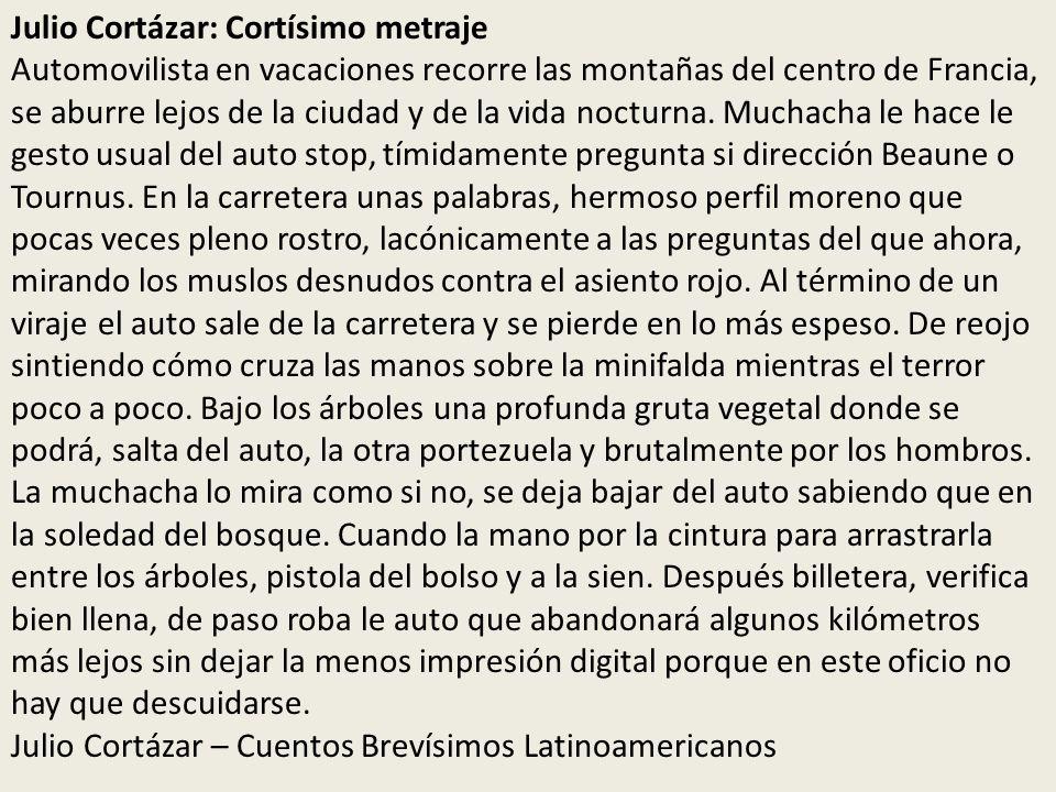 Julio Cortázar: Cortísimo metraje