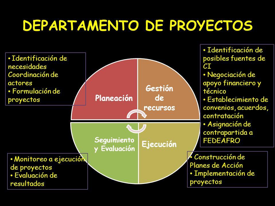 DEPARTAMENTO DE PROYECTOS