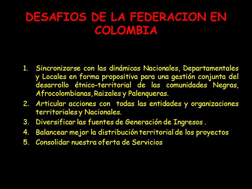 DESAFIOS DE LA FEDERACION EN COLOMBIA