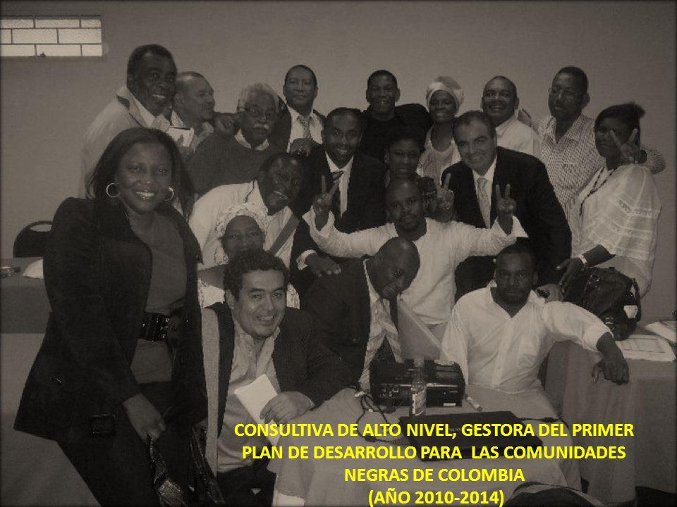 CONSULTIVA DE ALTO NIVEL, GESTORA DEL PRIMER PLAN DE DESARROLLO PARA LAS COMUNIDADES NEGRAS DE COLOMBIA