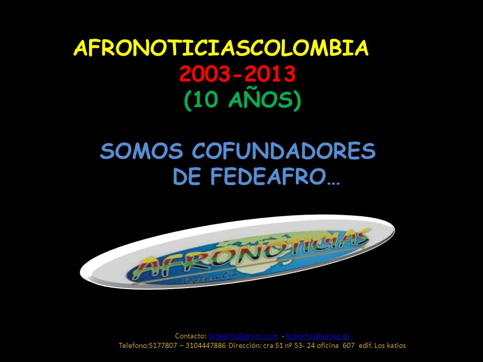 Contacto: fedeafro@gmail.com - fedeafro@yahoo.es