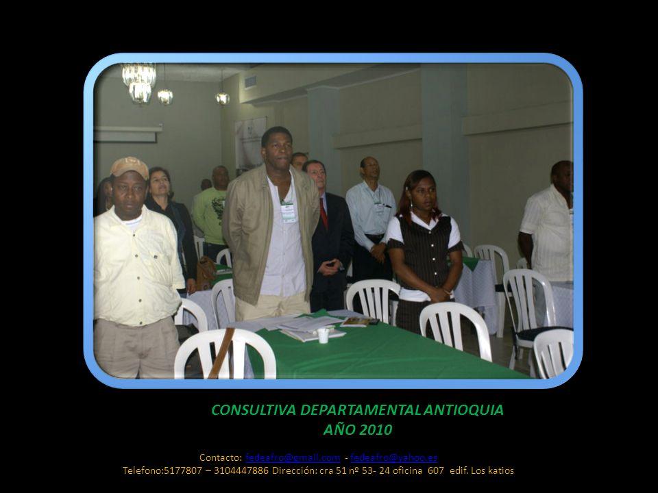 CONSULTIVA DEPARTAMENTAL ANTIOQUIA AÑO 2010