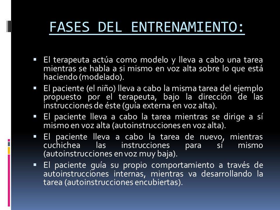 FASES DEL ENTRENAMIENTO: